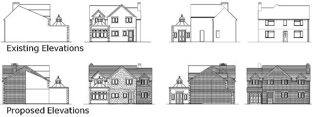 2a. Design 1. Front extension. Building Plans